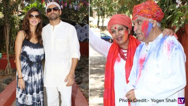 Javed Akhtar's Holi Party 2019: From Shabana Azmi's Dancing Poses to Shibani Dandekar and Farhan Akhtar's Festive Fun - View Pics!