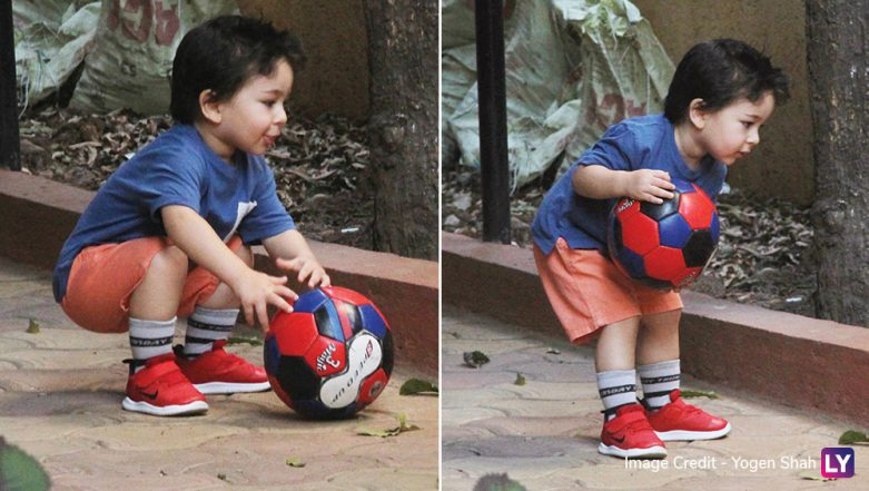 Taimur Ali Khan's Latest Pictures of Playing Football Are All Shades of Cuteness, See Pics