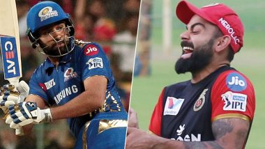 Watch Virat Kohli In a Viral Video Giving a 'Painful' Smile to Rohit Sharma's Fantastic Boundary During RCB vs MI IPL 2019 Match