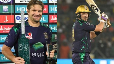 PSL 2019 Most Runs: Shane Watson Emerges as Leading Run-Scorer, Wins Best Batsman Title in Pakistan Super League 4