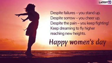 Happy Women's Day 2019 Wishes for Wife or Girlfriend: Powerful Quotes, WhatsApp Messages, GIF Images, International Women's Day Greetings to Send Your Ladylove on March 8