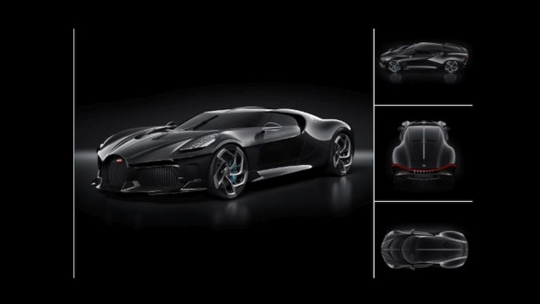 Bugatti La Voiture Noire, aka 'The Black Car' Becomes the World's Most Expensive New Car Ever Sold (View Pics)