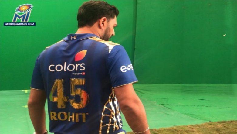 Yuvraj Singh Wears Rohit Sharma's Jersey While Shooting For Mumbai Indians Ahead of IPL 12; Ritika Sajdeh Reacts!