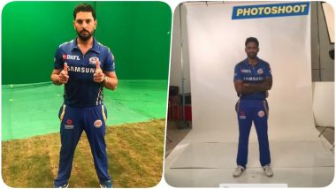 IPL 2019: Yuvraj Singh Shoots for Mumbai Indians Ahead of Indian Premier League 12 (See Pics & Video)