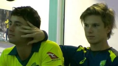 Adam Zampa and Marcus Stoinis' 'Happy and Gay' PDA During First ODI Against Pakistan Leaves Justin Langer Unimpressed (Watch Video)