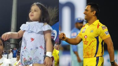 Ziva Dhoni Shouting 'Papa' to MSD During Delhi Capitals vs Chennai Super Kings Match is The Cutest Video on Internet Today!