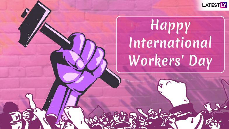 International Labour Day 2019 HD Images With Quotes for Free Download Online: Wish Happy Workers' Day With GIF Greetings & WhatsApp Sticker Messages on May 1