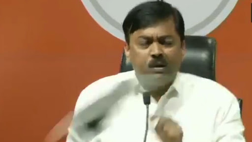Shoes Hurled at BJP MP GVL Narsimha Rao During Press Conference in New Delhi; Incident Caught on Camera