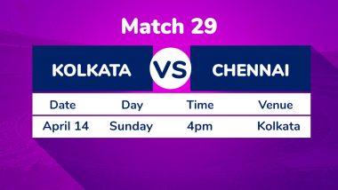 KKR vs CSK, IPL 2019 Match 29 Preview: Chennai Super Kings Take on Kolkata Knight Riders Amid MS Dhoni Rant Backdrop