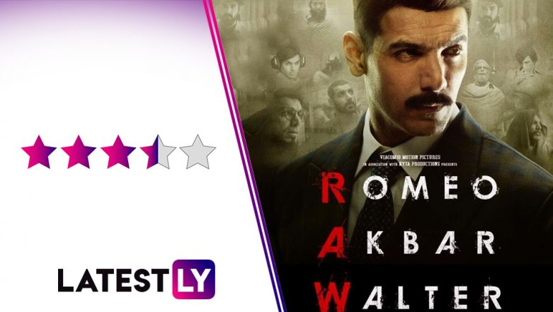 RAW – Romeo Akbar Walter Movie Review: John Abraham and Mouni Roy's Spy Drama Is a Stirring Saga of Effective Thrills and Surprises
