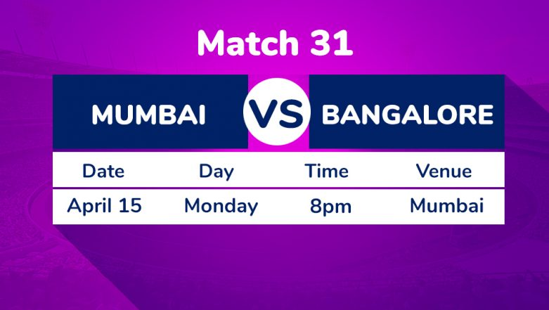 MI vs RCB, IPL 2019 Match 31 Preview: Royal Challengers Bangalore Look to Carry Momentum Against Mumbai Indians at Wankhede Stadium