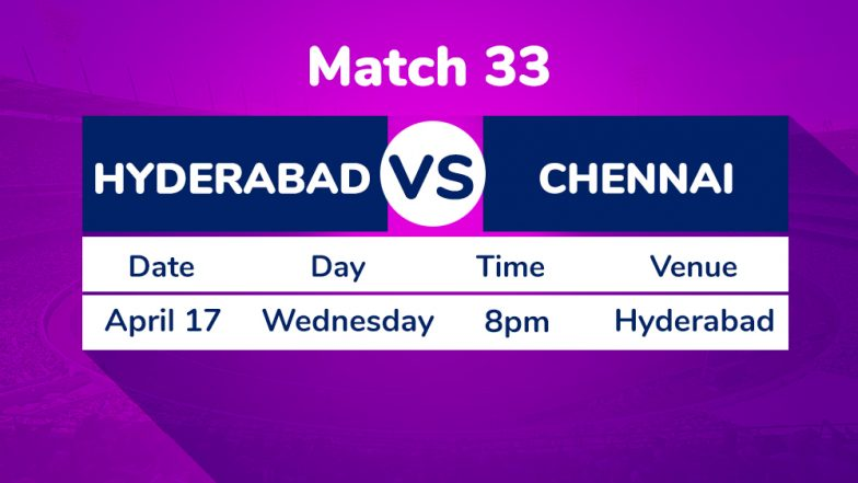 SRH vs CSK, IPL 2019 Match 33 Preview: Sunrisers Hyderabad Aim to End Losing Streak Against Chennai Super Kings