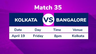 KKR vs RCB, IPL 2019 Match 35 Preview: Post Dinesh Karthik Boost, Kolkata Knight Riders Aim to Push Royal Challengers Bangalore to Brink