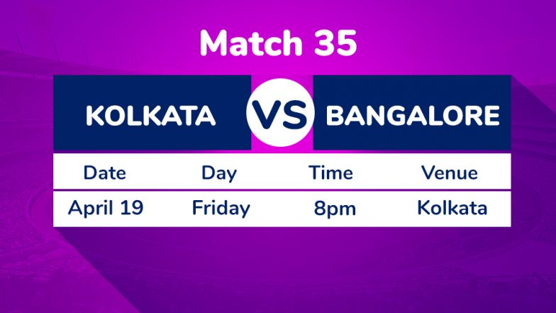 KKR vs RCB, IPL 2019 Match 35 Preview: Post Dinesh Karthik Boost, Kolkata Knight Riders Aim to Push Royal Challengers Bangalore to Brink