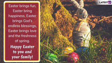 Happy Easter Sunday 2019 Wishes and Messages: Best WhatsApp Stickers, Photos, GIF Images & Facebook Greetings to Share on This Festive Day