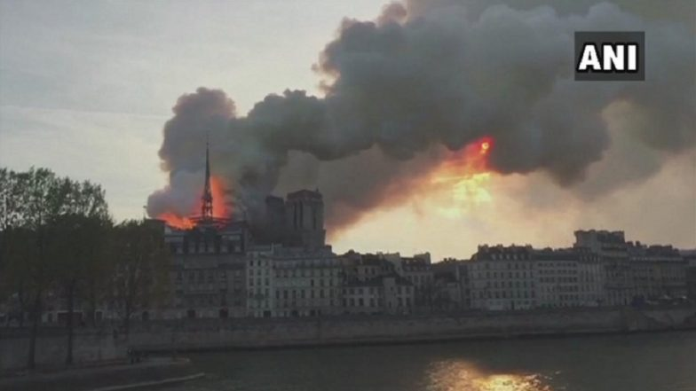 Paris Cathedral Blaze: Precious Artwork Being Evacuated, Both Towers Safe