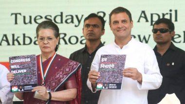 Lok Sabha Elections 2019: Sonia Gandhi Unhappy Over Congress Manifesto Layout