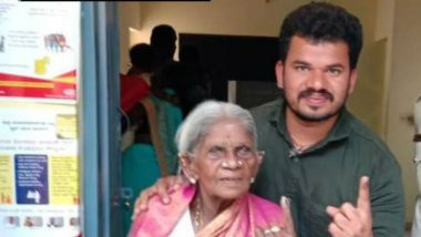 Karnataka: 107-Year-Old Padwa Awardee Saalumarada Thimmakka Casts Her Vote From Bangalore Rural Lok Sabha Seat