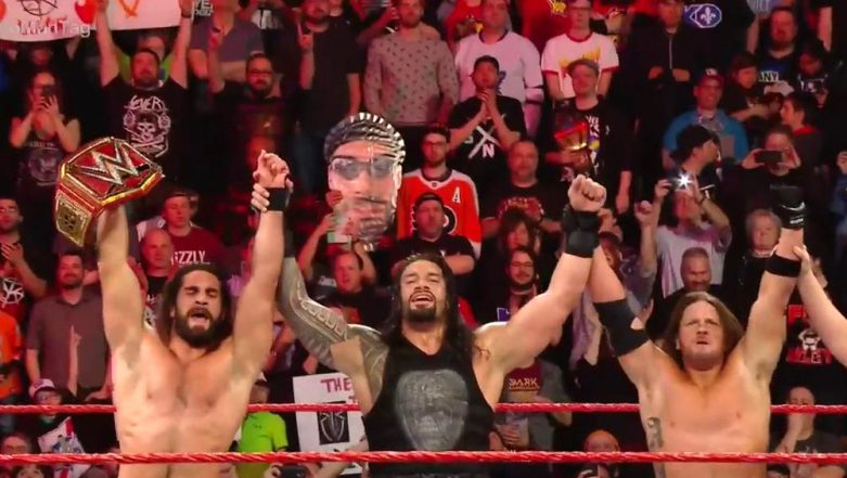 WWE RAW April 15, 2019 Results and Highlights: Smackdown's AJ Styles Joins Roman Reigns and Seth Rollins for the 6-Man Tag Team Match in Superstar Shake-Up Night