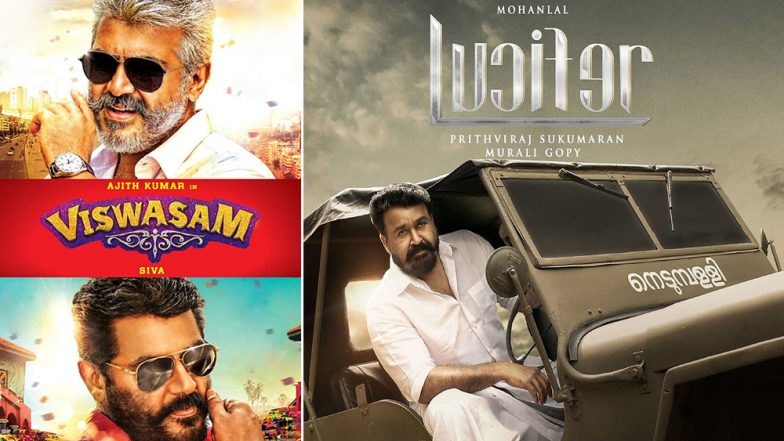 Ajith's Viswasam, Mohanlal's Lucifer: Biggest South Indian Box Office Winners in the 2019 First Quarter