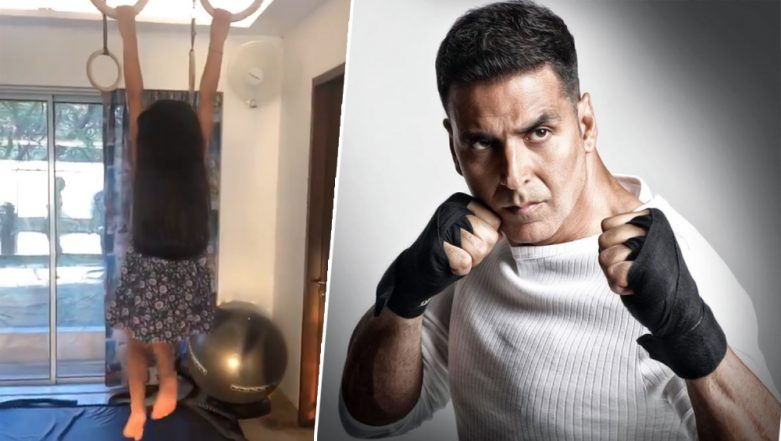 Akshay Kumar Gives Fitness Lessons to Daughter Nitara and You Might Want to Take Notes From Khiladi Star - Watch Video