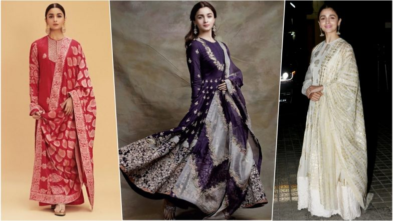Alia Bhatt's Ethnic Looks For Kalank Promotions Is Every Bit Ethereal And Sublime! View Pics