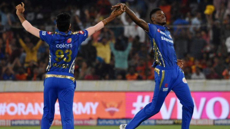 SRH vs MI Stat Highlights: Debutant Alzarri Joseph Claims Best Bowling Figures in IPL As Mumbai Indians Beat Sunrisers Hyderabad by 40 Runs