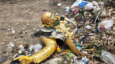 Ambedkar Statue Removed in Garbage Truck, Found Damaged in Hyderabad; 2 Arrested