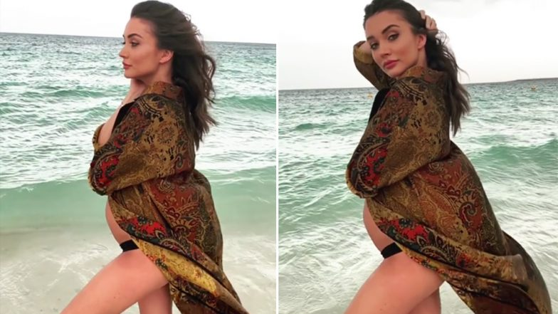 From Playing Golf in a Bikini to a Beachside Photoshoot, Amy Jackson is Flaunting Her Baby Bump in the Most Stylish Manner! (Watch Videos)