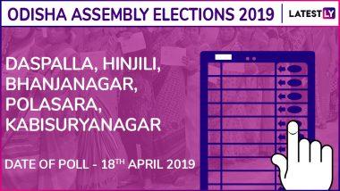 Daspalla, Hinjili, Bhanjanagar, Polasara, Kabisuryanagar Assembly Elections 2019 Results: Candidates, Names of Winning MLAs of Odisha Vidhan Sabha Seats