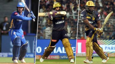 KKR vs MI, IPL 2019 Match 47, Key Players: Andre Russell, Dinesh Karthik, Quinton de Kock And Other Cricketers to Watch Out for at Eden Gardens in Kolkata
