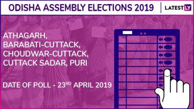 Athagarh, Barabati-Cuttack, Choudwar-Cuttack, Cuttack Sadar, Puri Assembly Elections 2019 Results in Odisha: BJD Wins 3, Congress 1, BJP 1