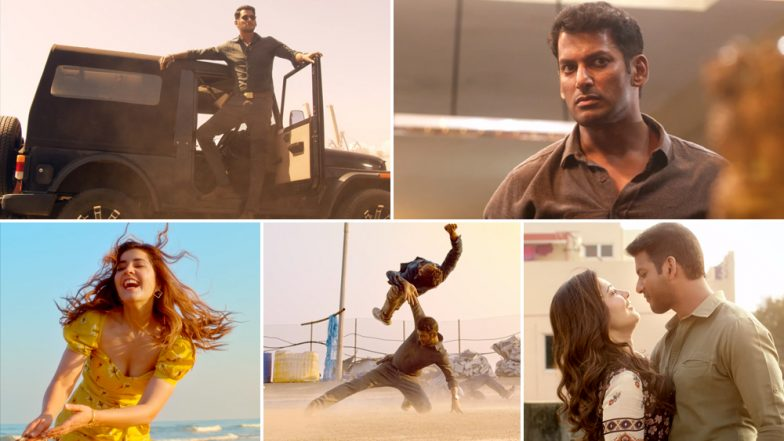 Ayogya Trailer: Vishal as The Rowdy And Corrupt Cop Fits Well in Venkat Mohan's Directorial Debut, Watch Video