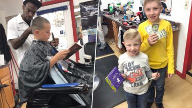 Barber in Pennsylvania Pays Kids to Read Out Loud While Getting Haircuts to Encourage Public Speaking (View Pics and Video)
