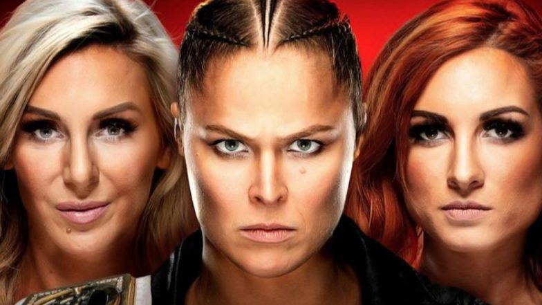 WWE Raw April 1, 2019 Results: Brawl Between Ronda Rousey, Charlotte Flair and Becky Lynch Ends With Them Getting Arrested Before Wrestlemania 35 (Watch Video)