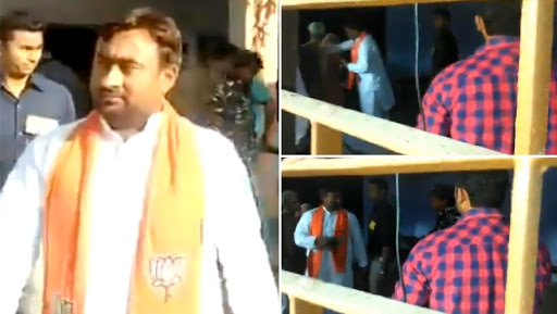 Bulandshahr BJP Candidate Bhola Singh Touches Feet of Voters at Polling Booth, Put Under House Arrest After Video Of Incident Goes Viral