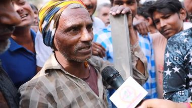 English-Speaking Graduate Labourer from Bihar Talks About Unemployment and Job Opportunities in India (Watch Video)