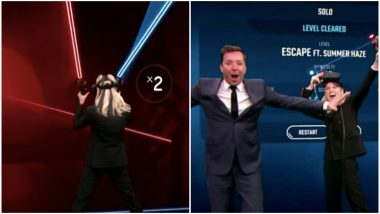 Brie Larson Shows Amazing Jedi Skills in a Game of Beat Saber With Jimmy Fallon, Fans Believe She's Ready for Star Wars (Watch Video)