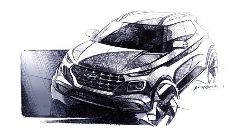 2019 Hyundai Venue Sub-Compact SUV Design Sketches Officially Released; Scheduled To Make India Debut on April 17