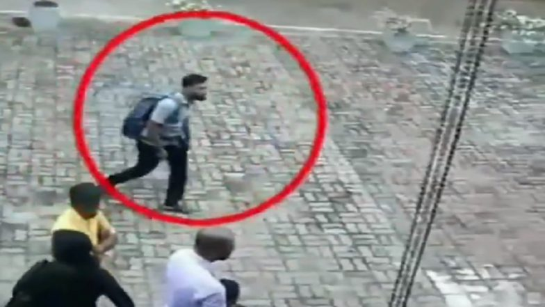 Sri Lanka Terror Attacks: CCTV Footage Spots Suspected Suicide Bomber Entering St Sebastian's Church Before Explosion; Watch Video