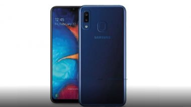 Samsung Galaxy A20e Render Image Surfaces Online; Likely To Be Unveiled on April 10 As Toned Down Version of Galaxy A20e