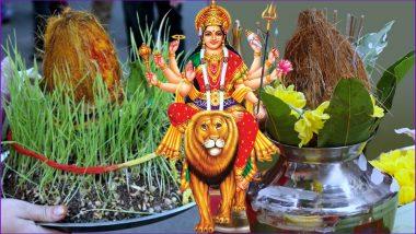 Chaitra Navratri 2019 Ghatasthapana Puja Shubh Muhurat: Kalash Sthapana Timings & Puja Vidhi to Perform on Day 1 of Navaratri Festival