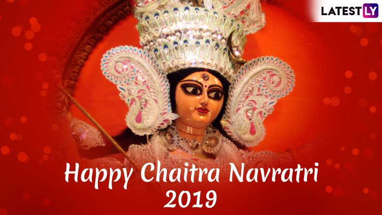 Chaitra Navratri 2019 Wishes in Advance: WhatsApp Stickers, SMS, Durga Devi Photos, GIF Images and Messages to Send Happy Navratri Greetings