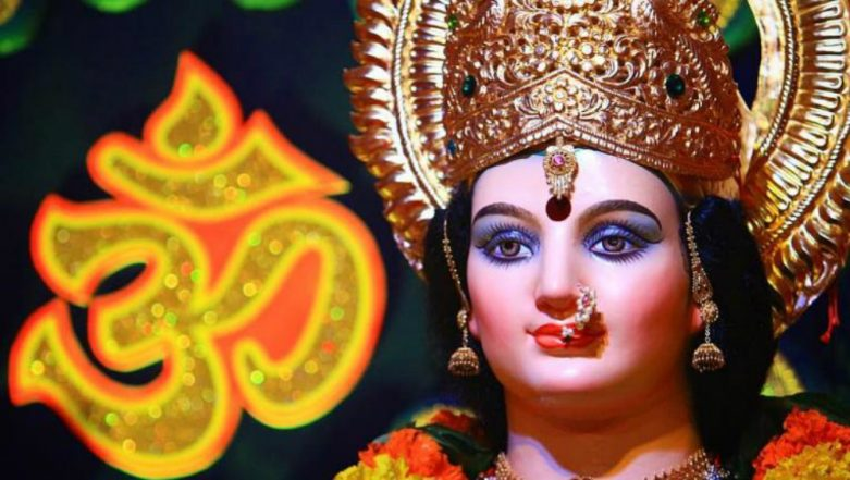 Maa Durga Images for Chaitra Navratri & HD Photos for Free Download Online: Wish Happy Navaratri 2019 With Devi Ji Wallpapers, WhatsApp Stickers & Beautiful GIF Greeting Messages