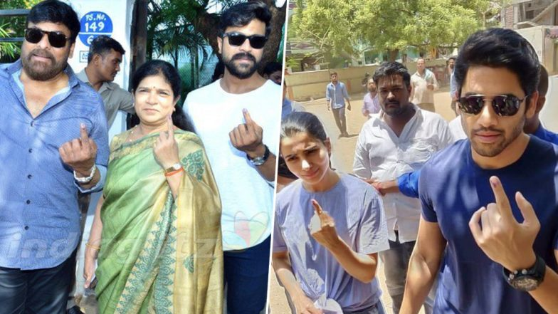 Lok Sabha Elections 2019: Chiranjeevi, Ram Charan, Samantha Akkineni, Naga Chaitanya Cast Their Votes! See Pics of the Tollywood Stars