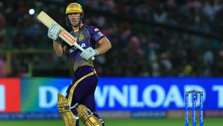 RR vs KKR, IPL 2019: Kolkata Batsman Chris Lynn Escapes After Getting Bowled by Rajasthan Bowler Dhawal Kulkarni (Watch Video)