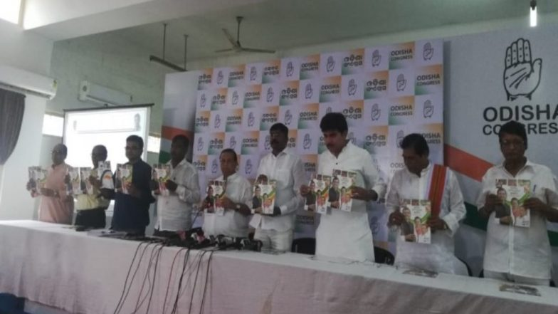 Assembly Elections 2019: Congress Releases Manifesto for Odisha, Focuses on 19 Points