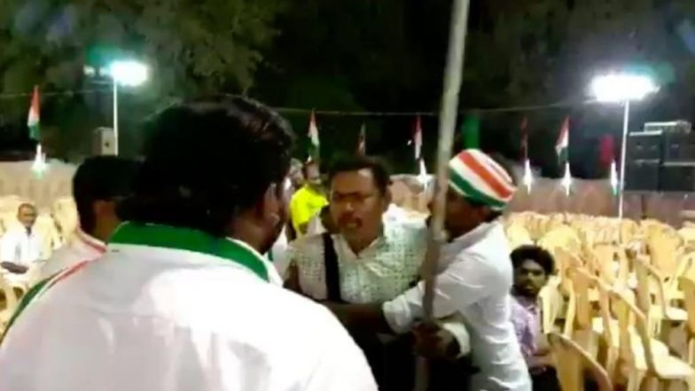 Lok Sabha Elections 2019: Congress Workers Attack Photojournalist for Clicking Pictures of Empty Chairs at Rally in Tamil Nadu's Virudhunagar; Watch Video