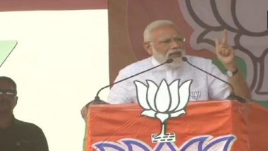 Lok Sabha Elections 2019: PM Narendra Modi Calls on West Bengal Voters to Remove 'Mamata Banerjee', Calls Her 'Speed-Breaker' in Path of Development