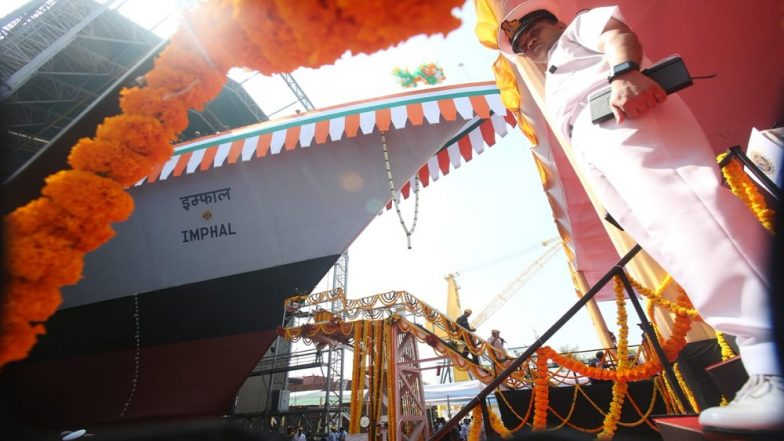 INS Imphal, Project 15B Destroyer, Launched by Indian Navy Chief Admiral Sunil Lanba